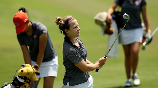 Auburn's Victoria Trapani during Monday's practice round at the Women's NCAA Championship.