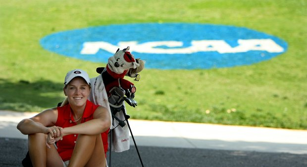 Emilie Burger of Georgia is playing as an individual during Monday's practice round at the Women's NCAA Championship.