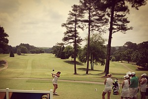 Tulane at the first tee during Monday's practice round at the Women's NCAA Championship.