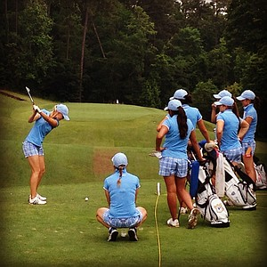 UCLA's Louise Ridderstrom at No. 8 during Monday's practice round at the Women's NCAA Championship.