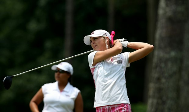 Mary L. Gallagher of Mississippi State during Monday's practice round at the Women's NCAA Championship.
