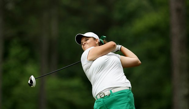 Michigan State's Liz Nagel in Round 1 of the 2013 Women's NCAA Championship.