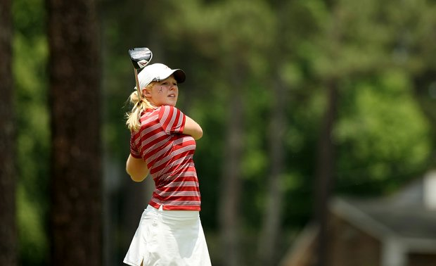 Alabama's Stephanie Meadow in Round 1 of the 2013 Women's NCAA Championship.