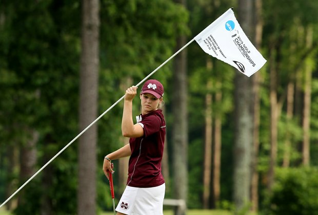 Mississippi State's Ally McDonald posted a 70 in Round 1 of the 2013 Women's NCAA Championship.
