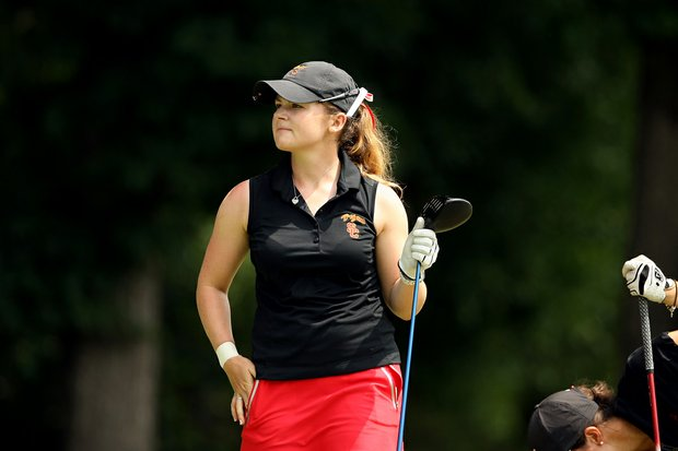 USC's Rachel Morris in Round 2 of the 2013 Women's NCAA Championship. Rachel posted a 70.