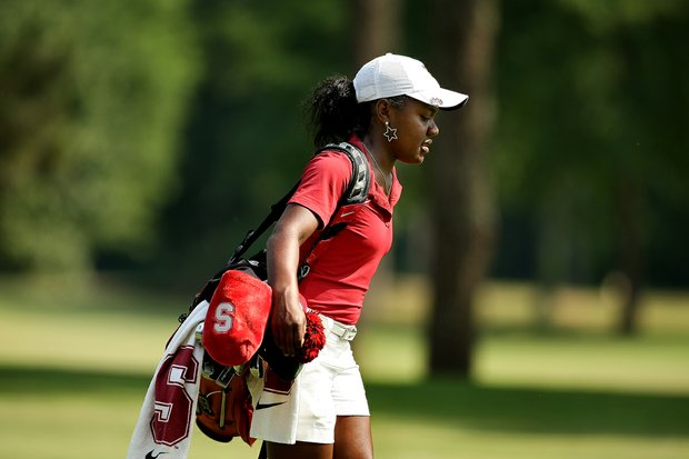 Stanford's Mariah Stackhouse in Round 2 of the 2013 Women's NCAA Championship.