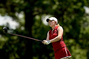 Alabama's Stephanie Meadow in Round 3 of the 2013 Women's NCAA Championship.