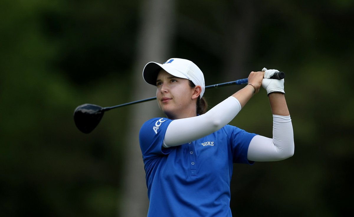 Duke's Lindy Duncan, is a senior, finishing her college career at Duke in after the 2013 Women's NCAA Championship.
