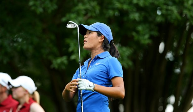 Duke's Celine Boutier in Round 3 of the 2013 Women's NCAA Championship.
