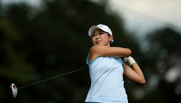 UCLA's Tiffany Lua in Round 3 of the 2013 Women's NCAA Championship.