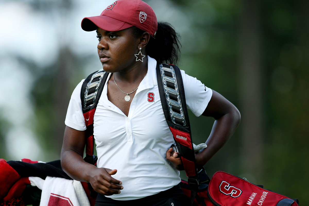 Stanford's Mariah Stackhouse in Round 3 of the 2013 Women's NCAA Championship.