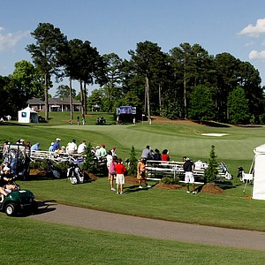 A view of 9th and 18th green in Round 3 of the 2013 Women's NCAA Championship.