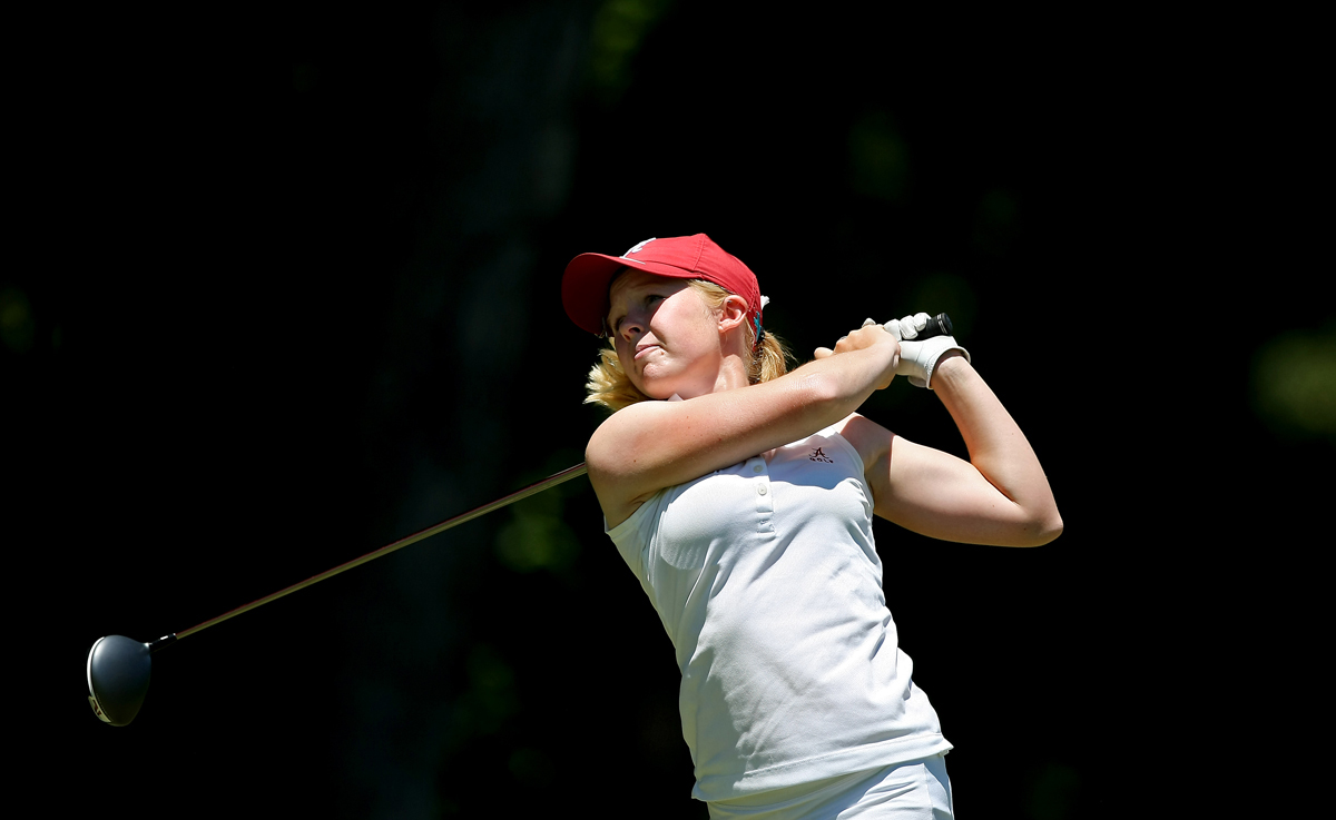 Alabama's Stephanie Meadow in the final round of the 2013 Women's NCAA Championship.