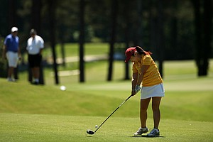 USC's Kyung Kim at No. 5 in the final round of the 2013 Women's NCAA Championship.