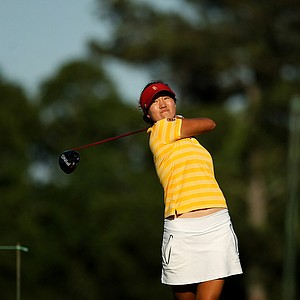 USC's Annie Park in the final round of the 2013 Women's NCAA Championship. Park is the 7th freshman to win the individual title.