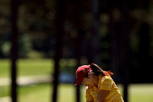 USC's Kyung Kim at No. 5 in the final round. Kim finished T6 individually winning the National Championship as a team.