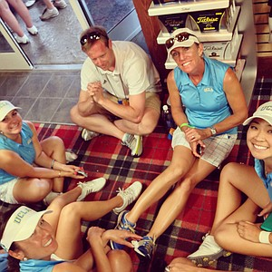 UCLA waits out the delay in the pro shop in Round 2. UCLA finished in fourth.
