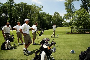 University of Central Florida during Monday's practice at the 2013 NCAA Championship.