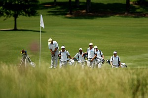 UCLA at No. 17 during Monday's practice round of the 2013 NCAA Championship.