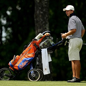 Florida's J. D. Tomlinson during a practice round at the 2013 NCAA Championship at Capital City Club Crabapple Course.