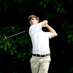 Georgia Tech's Ollie Schniederjans during Round 1 of the 2013 NCAA Championship at Capital City Club Crabapple Course.
