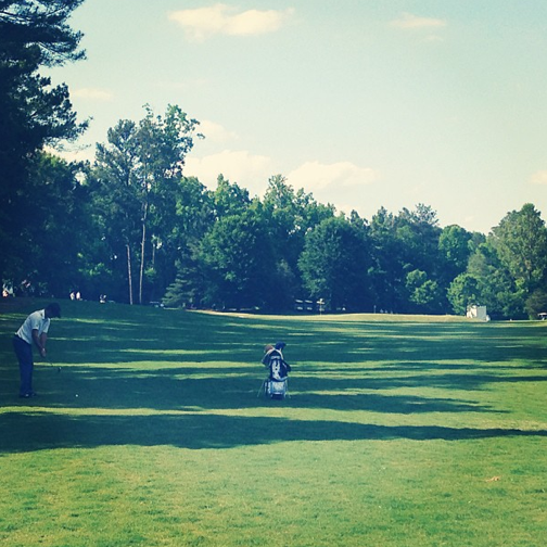 UCLA's Jonathan Garrick hits an approach shot into the par-4 9th – his last hole of the day.