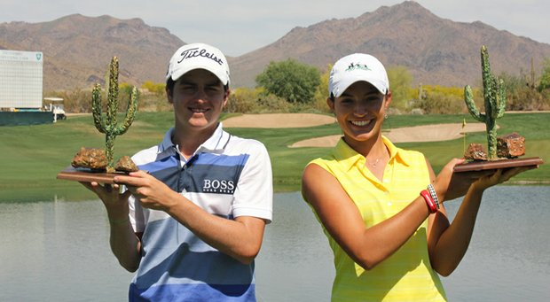Jorge Garcia and Nicole Morales won the 2013 Thunderbird International Junior at Grayhawk Golf Club.