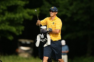 Cal's Brandon Hagy at No. 15 during the final round of stroke play of the 2013 NCAA Championship.