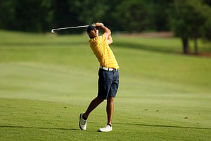 California's Max Homa at No. 18 during the final round of stroke play of the 2013 NCAA Championship.