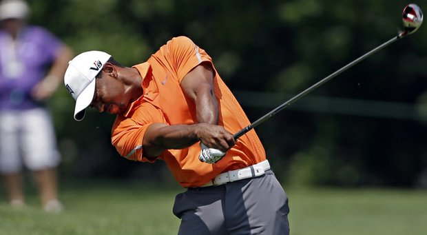 Tiger Woods during the first round of the 2013 Memorial.