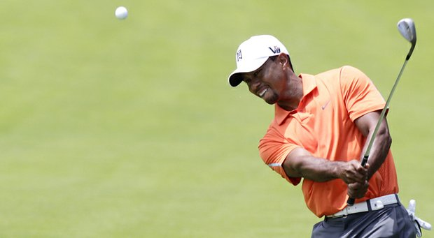 Tiger Woods during the first round of the 2013 Memorial Tournament at Dublin, Ohio.