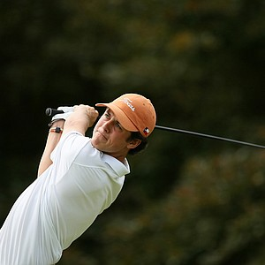 Cody Gribble of Texas during the quarterfinals of match play at the 2013 NCAA Championship at Capital City Club Crabapple Course. Texas lost to Illinois.
