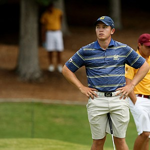 Cal's Michael Weaver lost his match against ASU's Austin Quick during the quarterfinals of match play at the 2013 NCAA Championship at Capital City Club Crabapple Course. Cal advances to play Illinois.