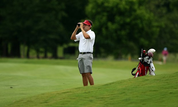 Alabama's Cory Whitsett during the quarterfinals of match play at the 2013 NCAA Championship at Capital City Club Crabapple Course.