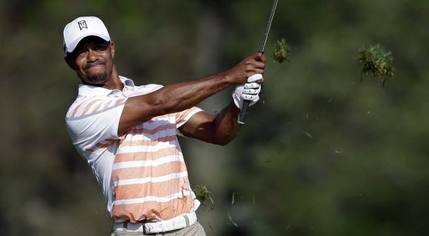 Tiger Woods during the second round of the 2013 Memorial at Muirfield Village.