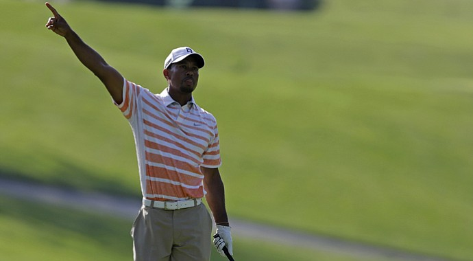 Tiger Woods during the second round of the 2013 Memorial.