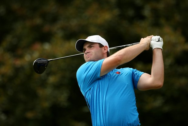 Illinois' Alex Burge during the semifinals of match play at the 2013 NCAA Championship at Capital City Club Crabapple Course.