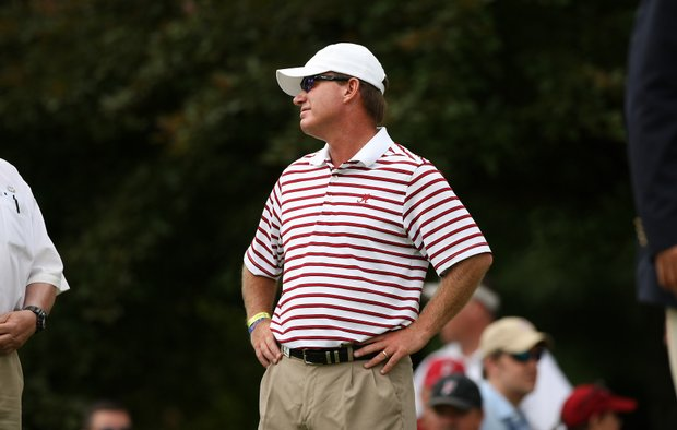 Alabama head coach Jay Seawell during the semifinals of match play at the 2013 NCAA Championship.