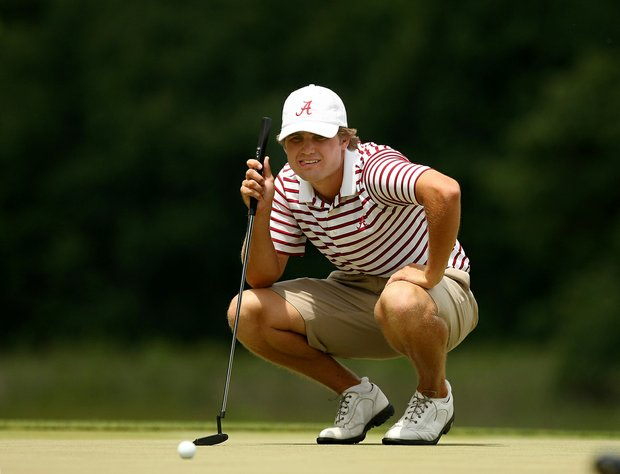 Alabama's Bobby Wyatt at No. 8 during the semifinals of match play at the 2013 NCAA Championship at Capital City Club Crabapple Course.