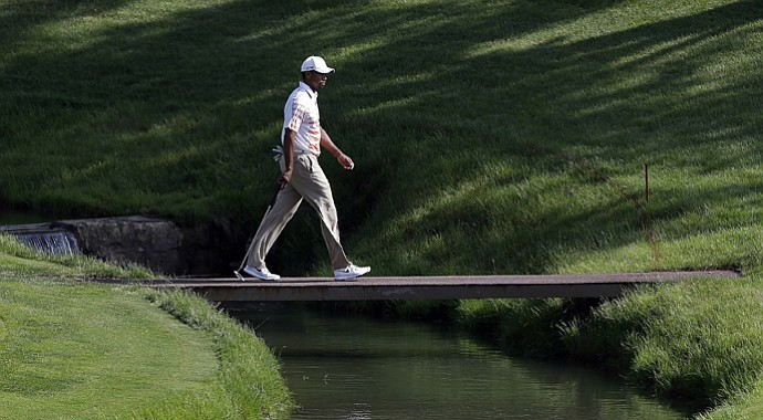 Tiger Woods during the 2013 Memorial at Muirfield Village in Ohio.