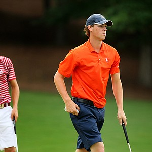 Illinois' Thomas Pieters and Alabama's Justin Thomas at the 2013 NCAA Championship at Capital City Club Crabapple Course.