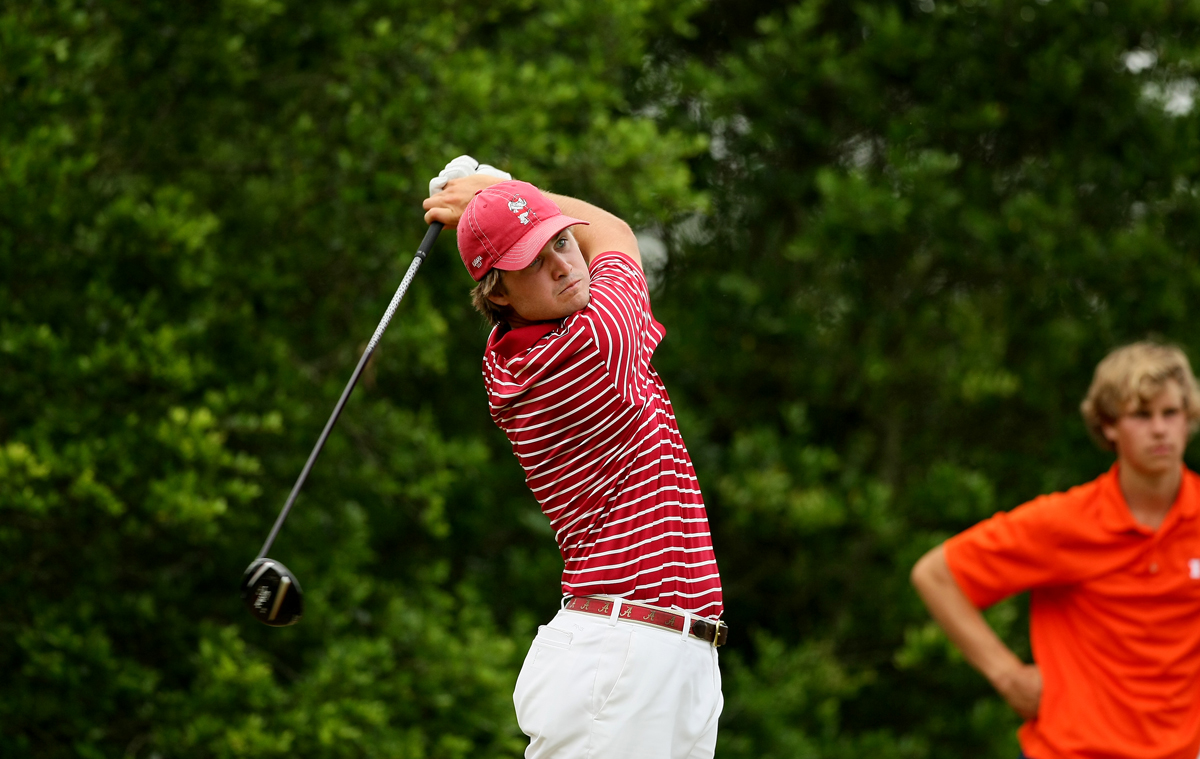 Alabama's Bobby Wyatt at No. 7 at the 2013 NCAA Championship at Capital City Club Crabapple Course.
