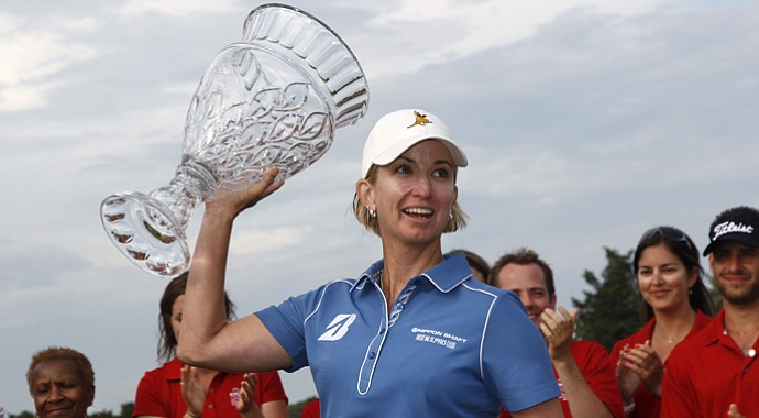 Karrie Webb after winning the 2013 ShopRite LPGA Classic.