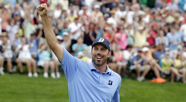Matt Kuchar after winning the 2013 Memorial Tournament at Muirfield Village.