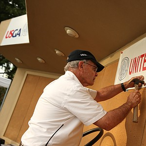 The scoreboard goes up at the U.S. Open Sectional Qualifier at Lakewood Country Club.