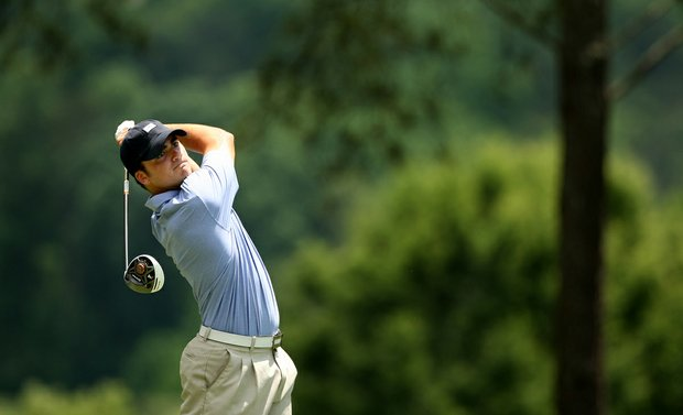 Conner Pratt of Birmingham, AL during U. S. Open Sectional Qualifying at Hawks Ridge Golf Club in Ball Ground, GA.