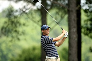Brandon Hagy at the first tee during U. S. Open Sectional Qualifying at Hawks Ridge Golf Club in Ball Ground, GA.
