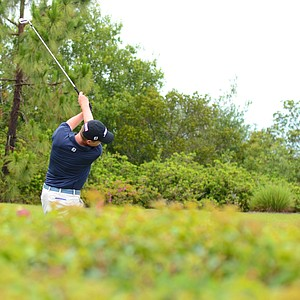 Kevin Phelan hits his tee shot at the 3rd hole during the second round of the U.S. Open Sectional qualifier at the Ritz-Carlton Members Golf Club in Bradenton, Fla.