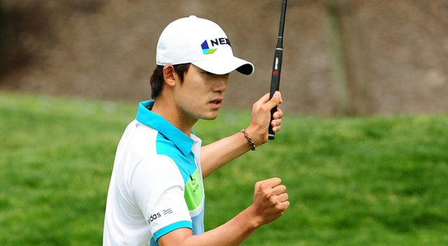 Bio Kim during sectional qualifying in Newport Beach, Calif., for the 2013 U.S. Open at Merion.