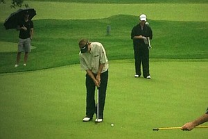 Brad Faxon during sectional qualifying in Purchase, N.Y., for the 2013 U.S. Open at Merion.